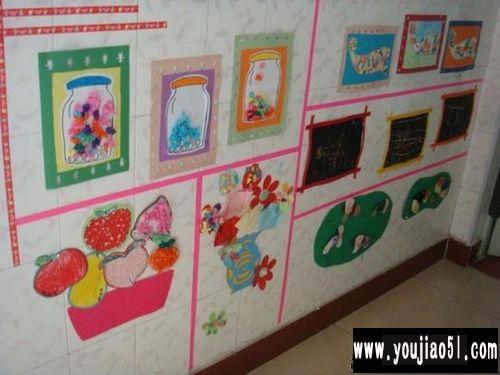 幼儿园楼道与走廊:幼儿作品展示