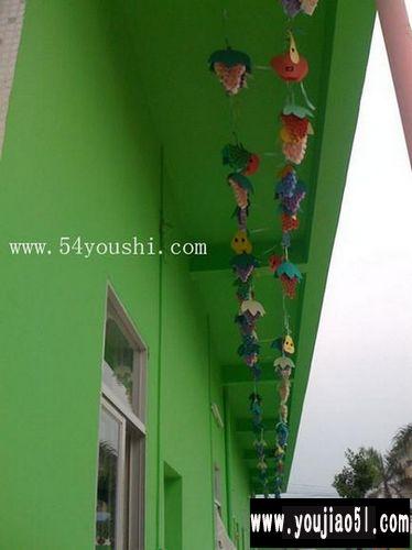 吊饰  幼儿园走廊布置:水果家族相关的
