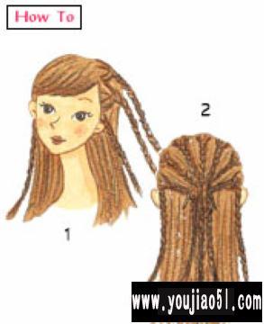 非洲辫子发型扎法图解