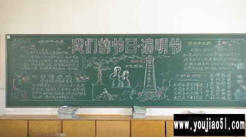 关于清明节的黑板报 黑板报设计 幼教无忧网