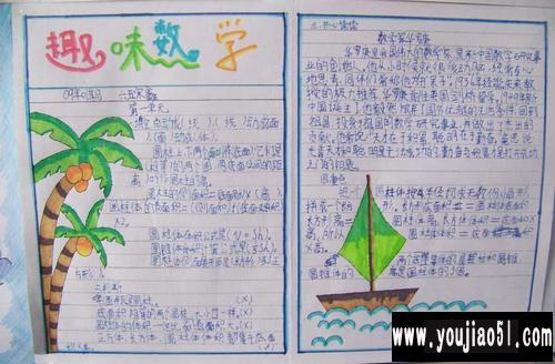 小学生二年级数学手抄报图片